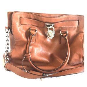 Michael Kors Hamilton brown purse